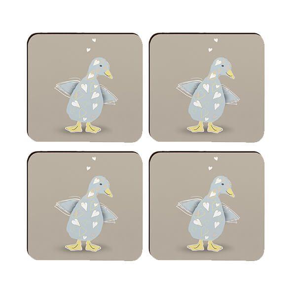 Melamaster Moulded Coaster Pack Of 4 Duck