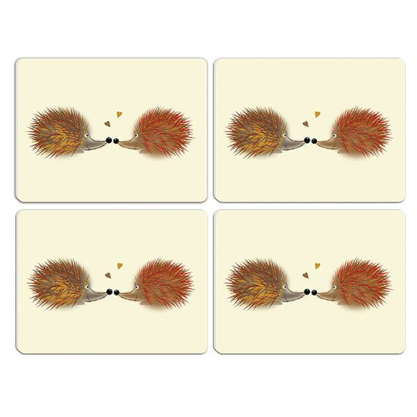 Melamaster Moulded Pack Of 4 Placemat Hedgehog