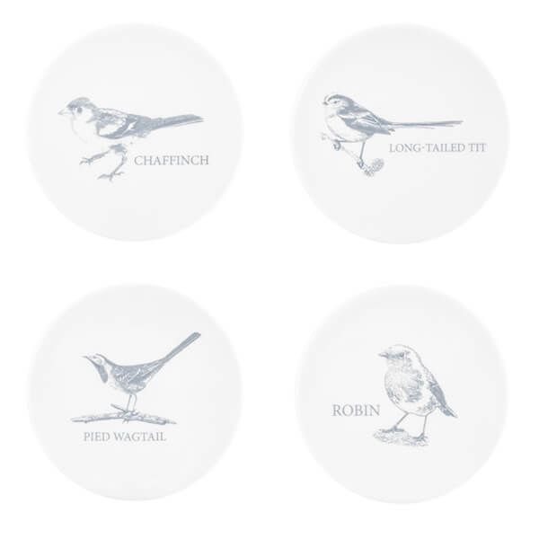 Mary Berry English Garden Set Of 4 Coasters Birds