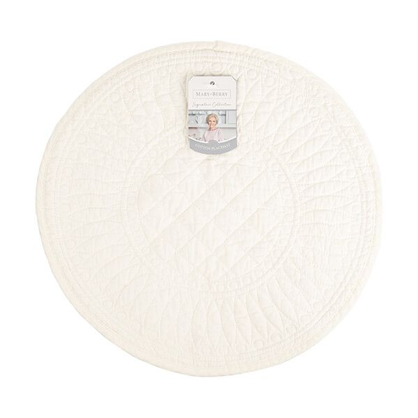 Mary Berry Signature Cotton Placemat Ivory