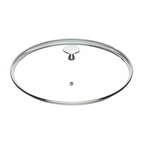 Master Class Glass Lid 24cm Stainless Steel Knob
