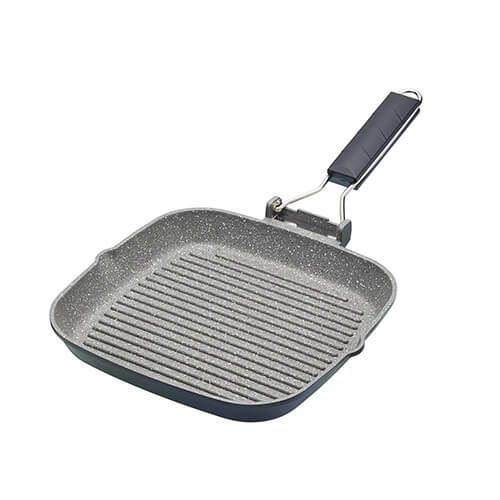 Master Class Induction Aluminium 20cm Grill Pan Marble Coating
