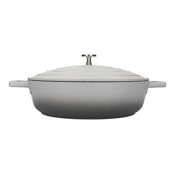 MasterClass Grey Ombre Cast Aluminium 28cm 4L Shallow Casserole Dish
