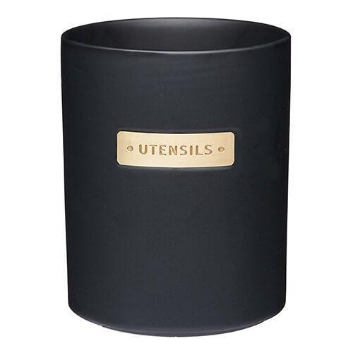 Master Class Black Stoneware Utensil Holder