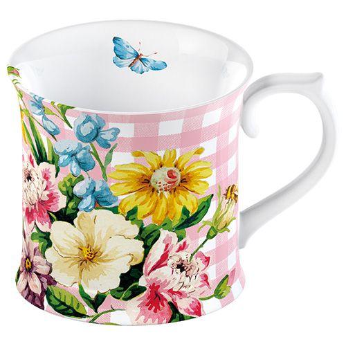 Katie Alice English Garden Tankard Mug Pink