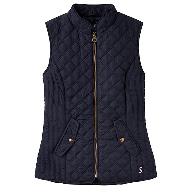 Joules Minx Quilted Gilet Marine Navy