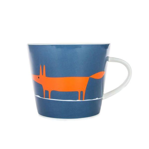 Scion Living Mr Fox Denim & Orange 350ml Mug