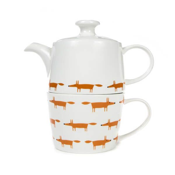 Scion Living Mr Fox Ceramic & Orange Tea for One Set