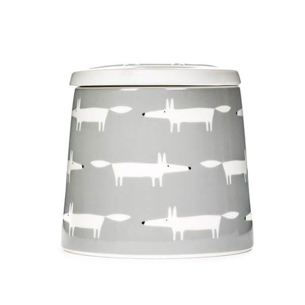 Scion Living Mr Fox Dove Grey Multi Large Storage Jar