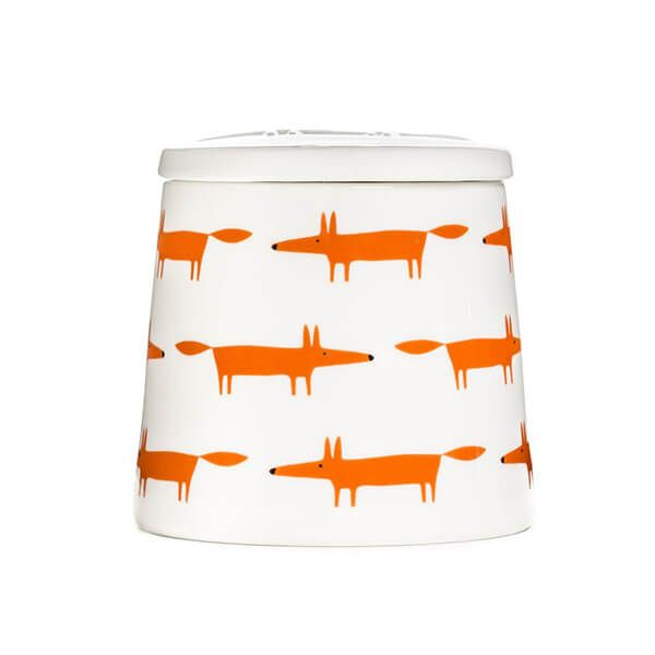 Scion Living Mr Fox Ceramic & Orange Multi Large Storage Jar