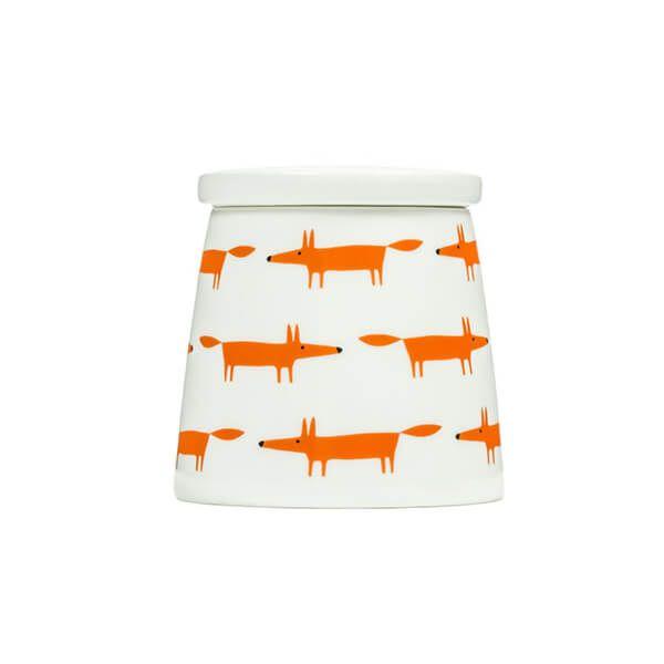 Scion Living Mr Fox Ceramic & Orange Multi Small Storage Jar