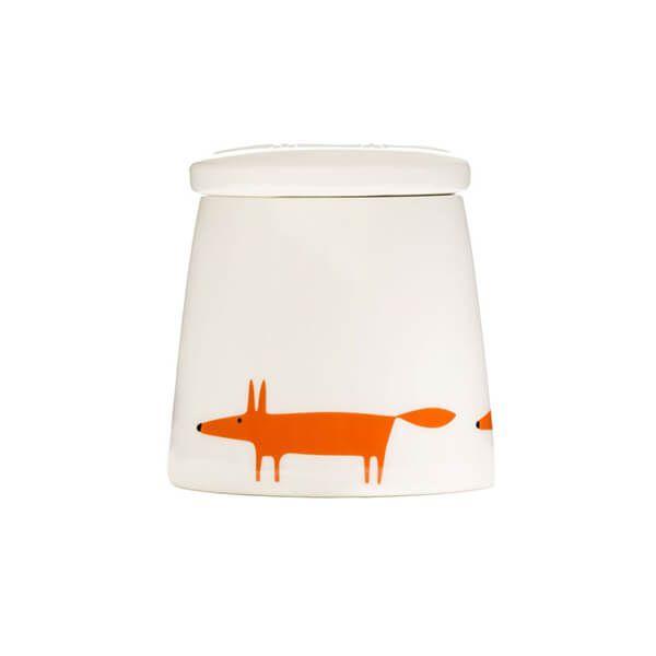 Scion Living Mr Fox Ceramic & Orange Small Storage Jar