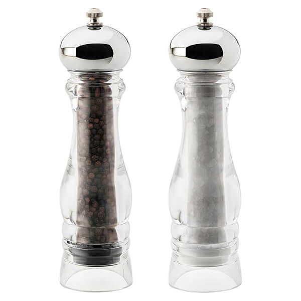 English Tableware Company Prestige Grande Unfilled Salt & Pepper Mill Set