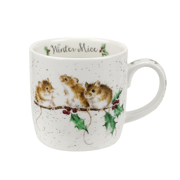 Wrendale Designs Fine Bone China Mug Winter Mice