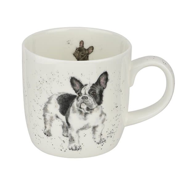 Wrendale Designs Fine Bone China Mug Frenchie