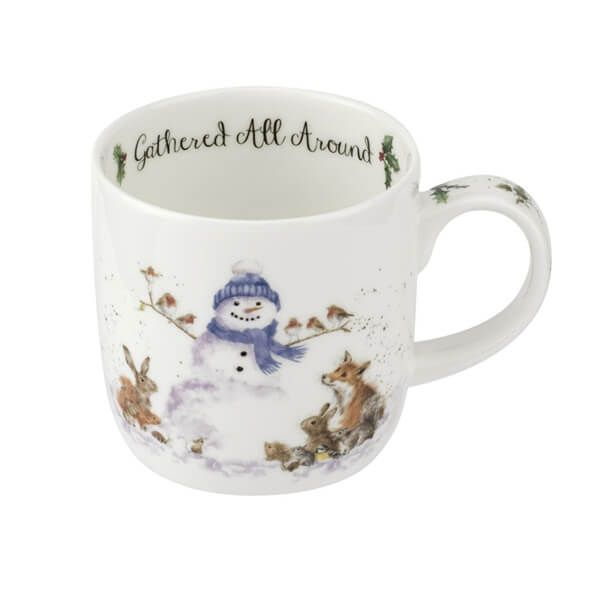 Wrendale Designs Fine Bone China Mug Gathered All Around Snowman