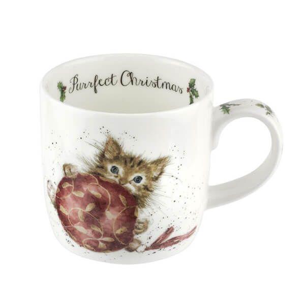Wrendale Designs Fine Bone China Mug Purrfect Christmas Kitten