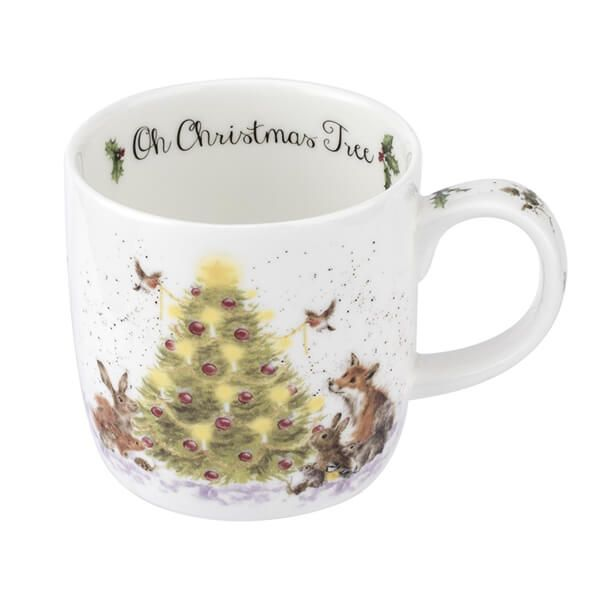 Wrendale Designs Fine Bone China Mug Oh Christmas Tree Mix