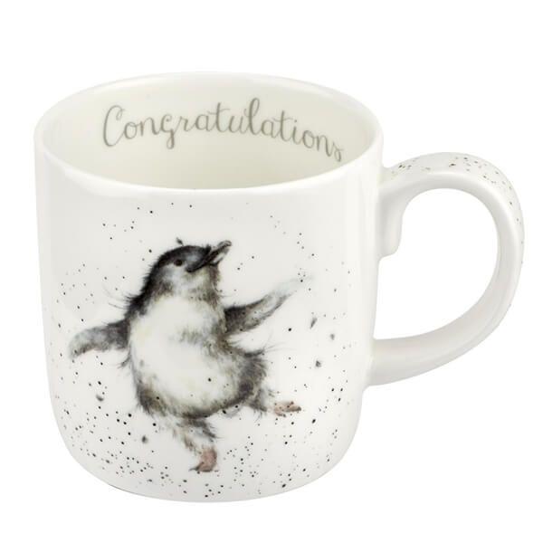 Wrendale Designs Large Fine Bone China Mug Congratulations Penguin