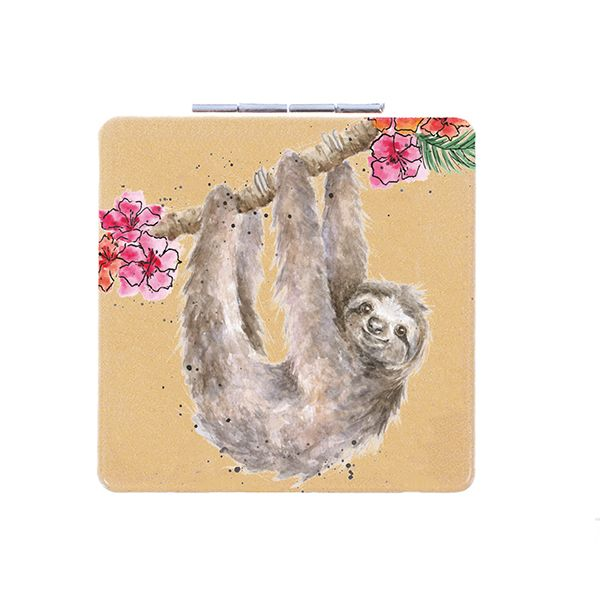 Wrendale Designs Hanging Around Sloth Compact Mirror