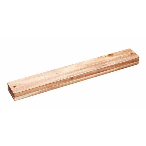 Natural Elements Acacia Wood 45cm Magnetic Knife Rack