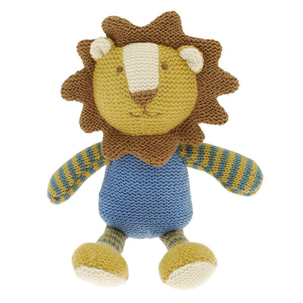 Walton & Co Knitted Lion Rattle