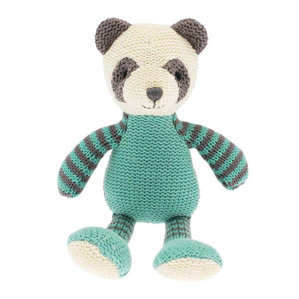 Walton & Co Knitted Panda Rattle
