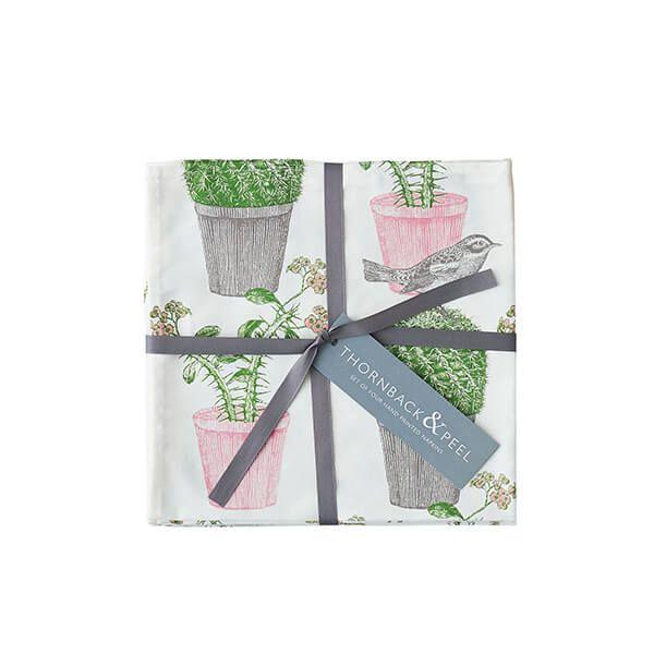 Thornback & Peel Cactus & Bird Set of 4 Napkins