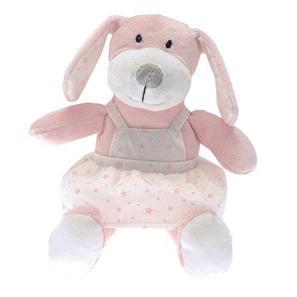Walton & Co Pink Puppy Toy Peaches
