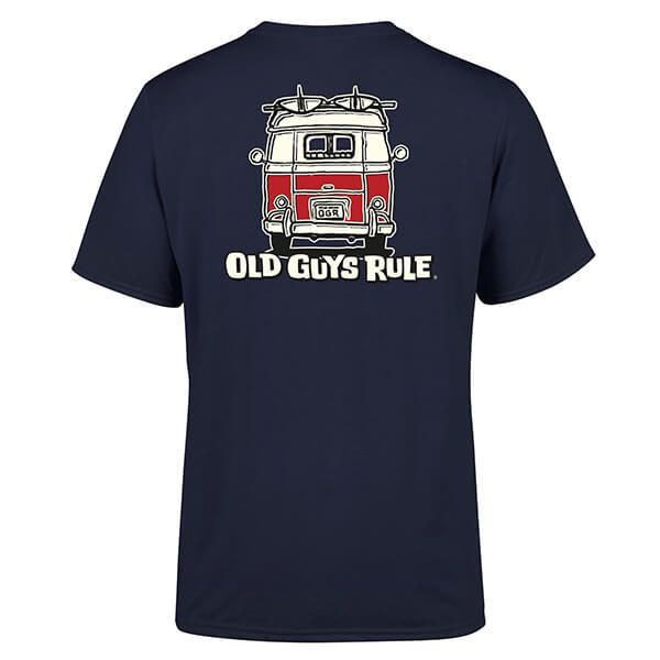 Old Guys Rule Navy Good Vibrations II T-Shirt