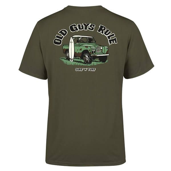 Old Guys Rule Military Green Surf & Turf T-Shirt