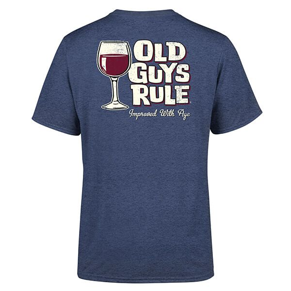 Old Guys Rule Heather Navy Improved With Ages II T-Shirt