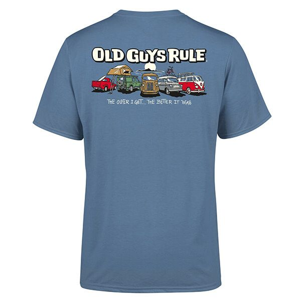 Old Guys Rule Indigo Blue Parking Lot III T-Shirt