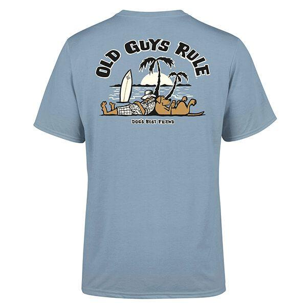 Old Guys Rule Stone Blue Dogs Best Friend II T-Shirt