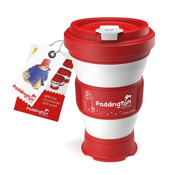 Paddington Bear Collapsible Red Travel Cup