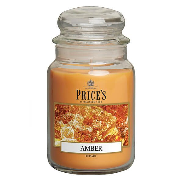 Prices Fragrance Collection Amber Large Jar Candle