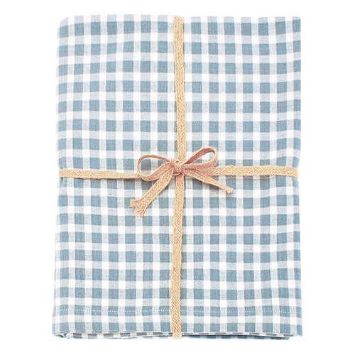 Walton & Co Portland Check Tablecloth Blue Cedar 130x230cm