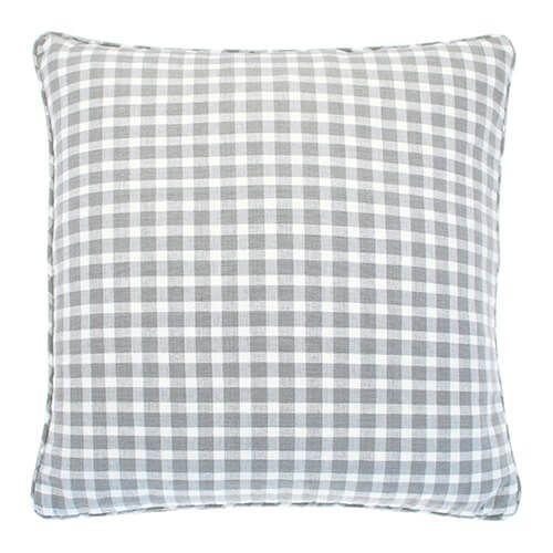 Walton & Co Portland Check Cushion Dove Grey Poly Filled