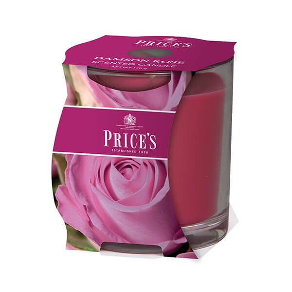 Prices Fragrance Collection Damson Rose Cluster Jar Candle