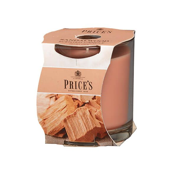 Prices Fragrance Collection Sandalwood Cluster Jar Candle