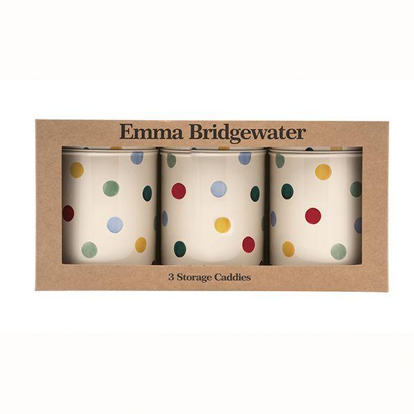 Emma Bridgewater Polka Dot Set of 3 Round Caddies