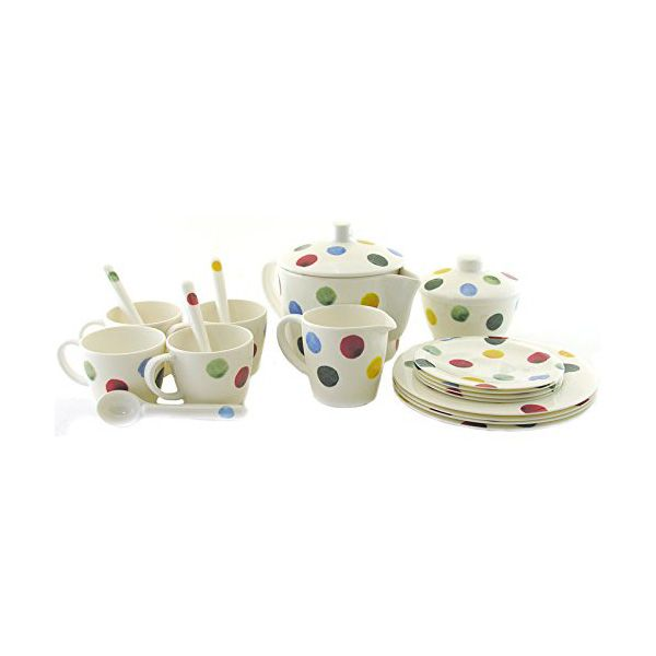 Emma Bridgewater Polka Dot 19 Piece Melamine Childs Tea Set