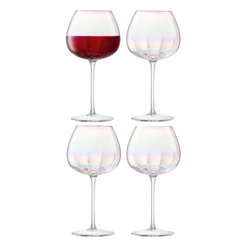 LSA Pearl Red Wine Glass 460ml Set Of 4
