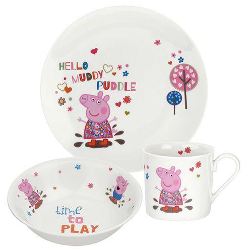 Peppa Pig Plate / Mug/ Bowl 3 Piece Gift Set