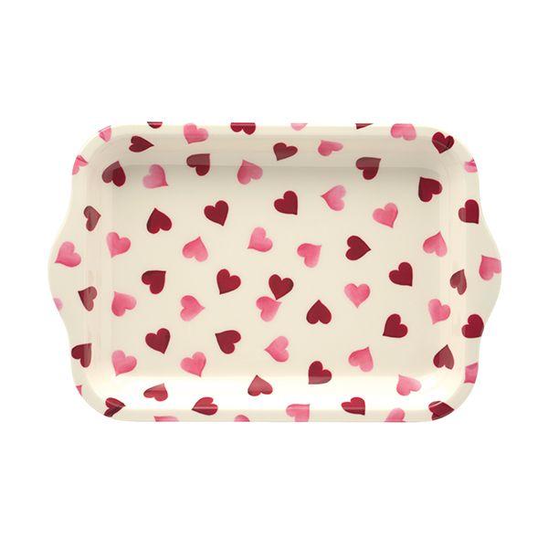 Emma Bridgewater Pink Hearts Small Melamine Tray