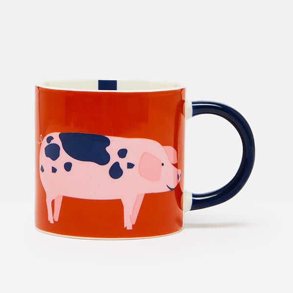 Joules Pig Orange Mug