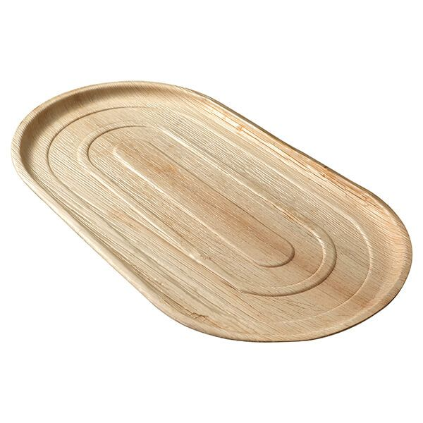 EcoSouLife Areca Nut Leaf 56 x 30cm Serving Tray, 3 Pieces