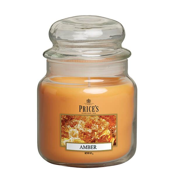 Prices Fragrance Collection Amber Medium Jar Candle
