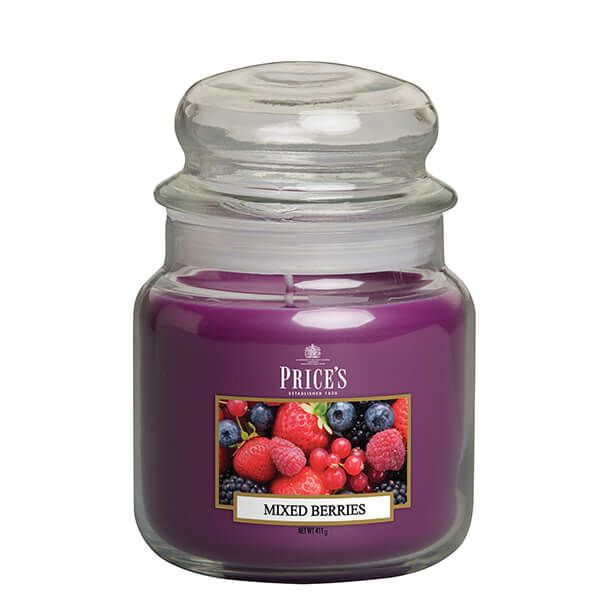 Prices Fragrance Collection Mixed Berries Medium Jar Candle