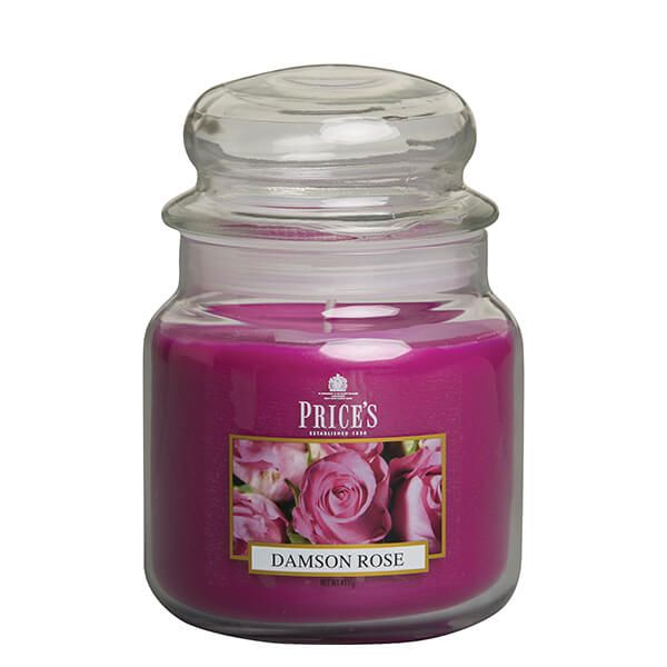 Prices Fragrance Collection Damson Rose Medium Jar Candle